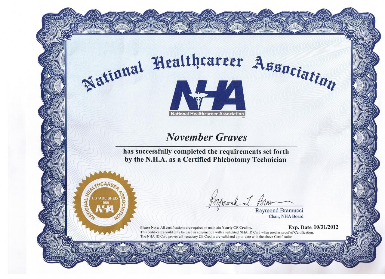 Skin by 11 certifications national healthcare cert phlebotomy 1betcityfo Gallery
